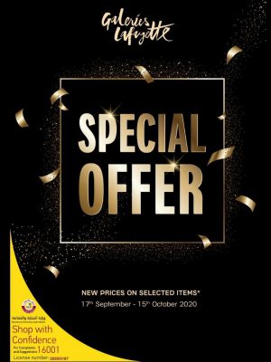 Galeries Lafayette – Special Offer, New prices on selected items